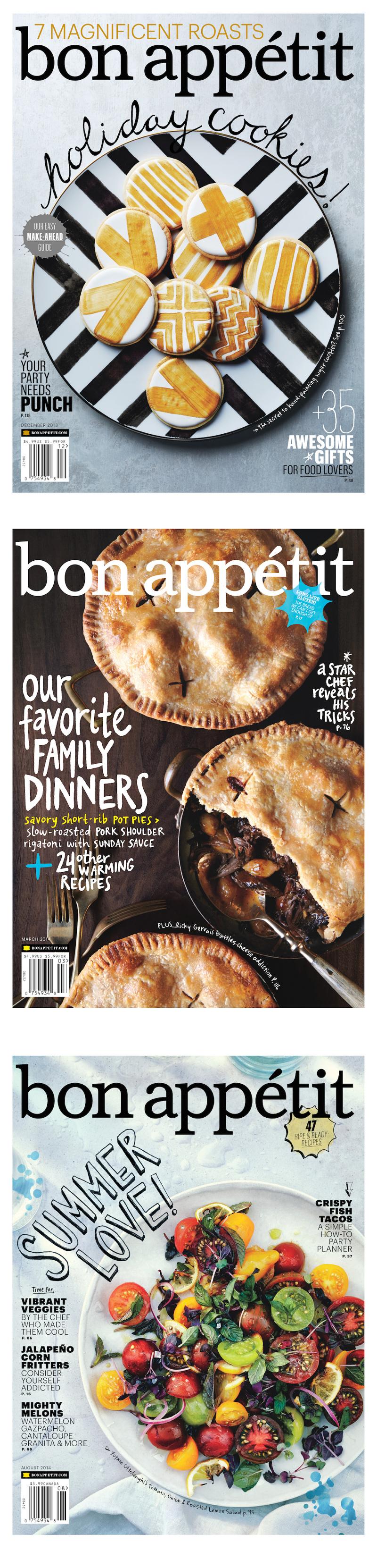 美食杂志封面版式设计