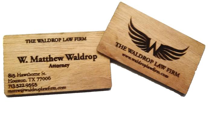 Wooden Business Cards - Secret Weapon Design