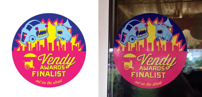 Sticker design postcards for the vendys new york city event